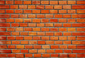 Texture of wall from red bricks Royalty Free Stock Photo