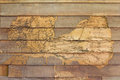 Texture wall wood termites background which are eaten as disintegrated Royalty Free Stock Images