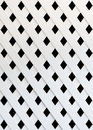 The texture of white slat wall isolated on black background Stock Photos