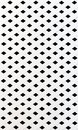 The texture of white slat wall isolated on black background Stock Image