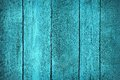 Texture of wooden blue fence painted in color Royalty Free Stock Photography