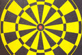 Texture of yellow and black dart board Royalty Free Stock Photo