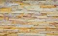 Texture of yellow brown rough brick wall Royalty Free Stock Photos