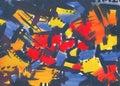Strukturovaný abstraktní malovat