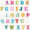Textured alphabet colorful letters set Stock Images