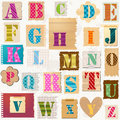 Textured alphabet colorful letters set Royalty Free Stock Photography