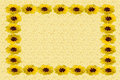 Textured Card With Flower Border Stock Image