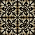 Textured embroidery gold Paisley vector seamless pattern. Orname