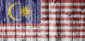 Textured flag of Malaysia nice colors Royalty Free Stock Photo