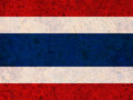 Textured flag of Thailand in nice colors