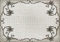 Textured floral ornament frame weave texture background Stock Image