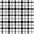 Textured grey tartan plaid Royalty Free Stock Photography
