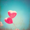 Textured Heart Balloons Stock Images
