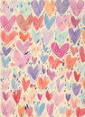 Textured Hearts Background Stock Images