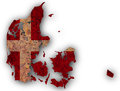 Textured map of Denmark in nice colors