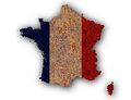 Textured map of France in nice colors