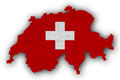 Textured map of Switzerland  in nice colors Royalty Free Stock Photo