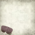 Textured old paper background with kirigami butterfly Royalty Free Stock Photos