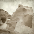 Textured old paper background with smooth sandstone walls of a ravine Stock Images