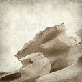 Textured old paper background with smooth sandstone walls of a ravine Stock Photography