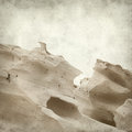 Textured old paper background with smooth sandstone walls of a ravine Royalty Free Stock Photo