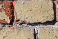 Textured old wall of brick Royalty Free Stock Photo