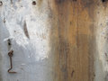 Textured paint stained wood with hook accent an old panel a rusty vintage cabin door lock Stock Images