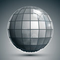 Textured plastic spherical object with flashes, pixilated Royalty Free Stock Photo