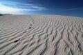 Textured Sand Footprints Royalty Free Stock Photo