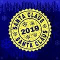 Textured SANTA CLAUS Stamp Seal on Winter Background