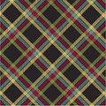 Textured tartan plaid, vector pattern Royalty Free Stock Photography
