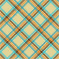Textured tartan plaid, vector pattern Royalty Free Stock Photo