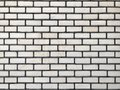 Textured white brick wall horizontal clear space Royalty Free Stock Photo