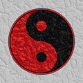 Textured Yin Yang Symbol Royalty Free Stock Photos