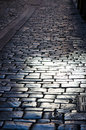 Textures cobblestone pavement in a french village Royalty Free Stock Photo