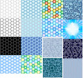 Textures hi-tech honeycombs Royalty Free Stock Photo
