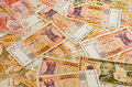 Textures money banknote currency Royalty Free Stock Photo