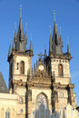 Teyn Church in Praha Royalty Free Stock Photo