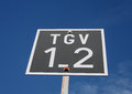TGV Railway Sign Royalty Free Stock Photo