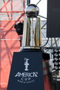 Th america s cup world series in naples trophy for the winner of italy april Stock Image