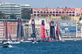 Th americas cup world series in naples fleet race gulf of italy april Stock Photos