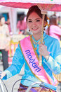 Th anniversary bosang umbrella festival in chiangmai province of thailand with woman traditional costume during the annual at san Royalty Free Stock Photos
