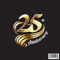 25 Th Anniversary Logo And Sym...