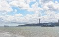Th april bridge in lisbon portugal Royalty Free Stock Images