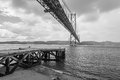 Th april bridge in lisbon portugal Stock Photography