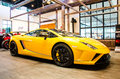 The th bangkok international motor show march lamborghini gallardo lp car on display at on march in thailand Stock Images