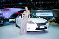 The th bangkok international motor show march unidentified model with lexus es h car on display at on march in Royalty Free Stock Image