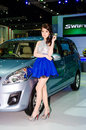 The th bangkok international motor show march unidentified model with suzuki ertiga car on display at on march in Royalty Free Stock Photos