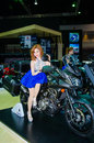 The th bangkok international motor show march wallaya nivornkarn with suzuki motorbike on display at on march in Stock Images
