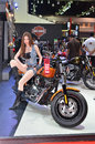 The th bangkok international motor show thailand apr unidentified female presenter at harley davidson pavilion in on april Stock Image